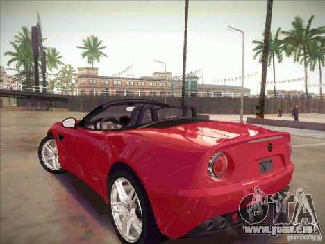 Alfa Romeo 8C Spider pour GTA San Andreas laissé vue