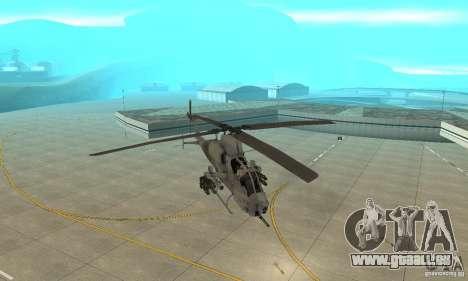 Hunter - AH-1Z Cobra für GTA San Andreas Rückansicht