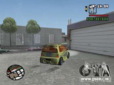 1111 OKA (tuning) pour GTA San Andreas vue arrière