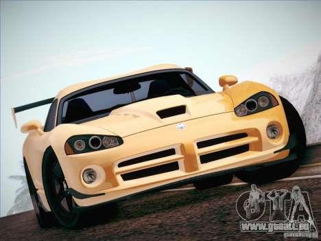 Dodge Viper SRT-10 ACR pour GTA San Andreas vue intérieure