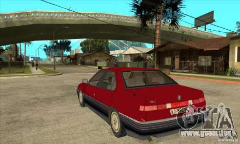 Alfa Romeo 164 für GTA San Andreas zurück linke Ansicht