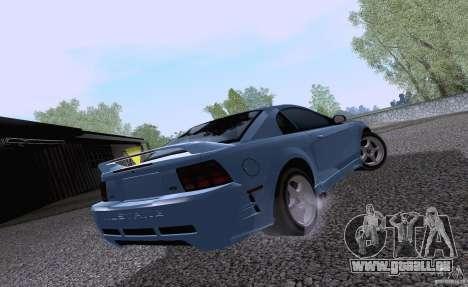 Ford Mustang SVT Cobra 2003 White wheels pour GTA San Andreas sur la vue arrière gauche