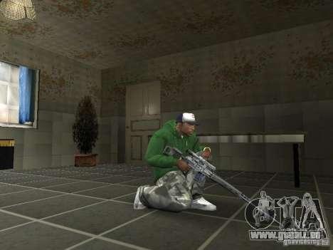 Pak intérieur armes V2 pour GTA San Andreas cinquième écran