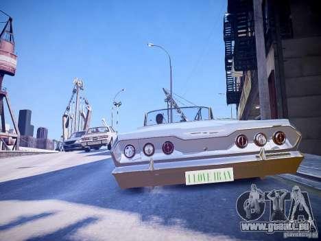 Chevrolet Impala 63 für GTA 4 hinten links Ansicht