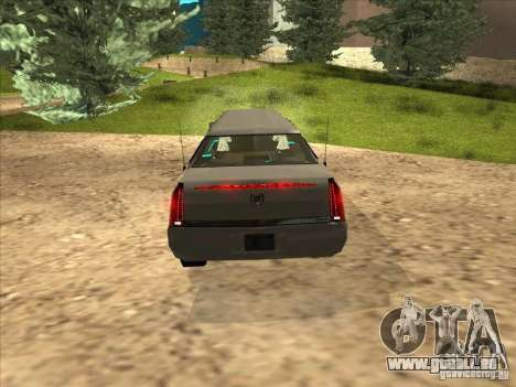 Cadillac DTS 2008 Limousine pour GTA San Andreas vue de droite