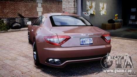 Maserati GranTurismo v1.0 pour GTA 4 Vue arrière de la gauche