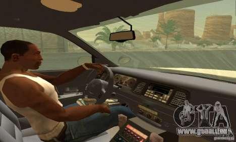 Ford Crown Victoria Texas Police für GTA San Andreas zurück linke Ansicht