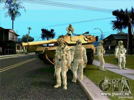 Électronique camouflage Morpeh pour GTA San Andreas quatrième écran