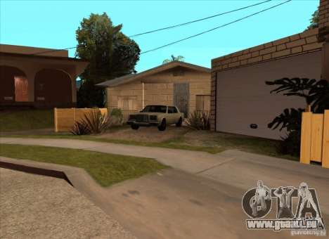 Geparkte Fahrzeuge in der Grove Street für GTA San Andreas