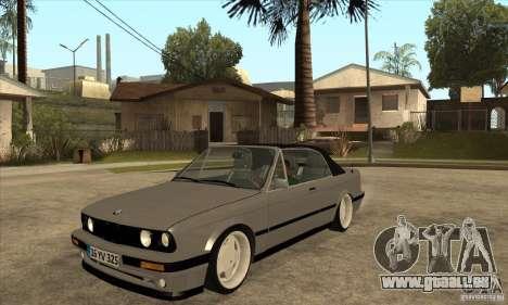 BMW E30 325i Cabrio 1989 pour GTA San Andreas