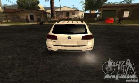 Volkswagen Touareg Dag Style pour GTA San Andreas sur la vue arrière gauche
