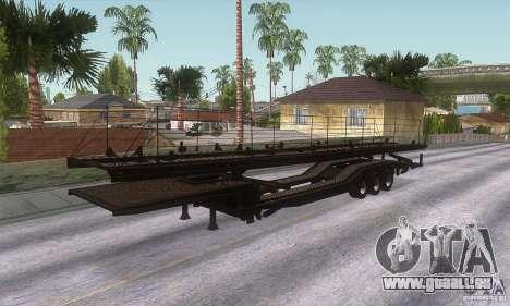 Der Trailer-truck für GTA San Andreas zurück linke Ansicht