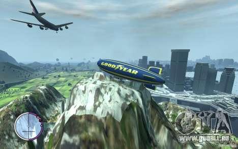 Dirigeable pour GTA 4 est une vue de l'intérieur