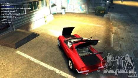 Ferrari Dino 246 GTS pour GTA 4 est une vue de dessous