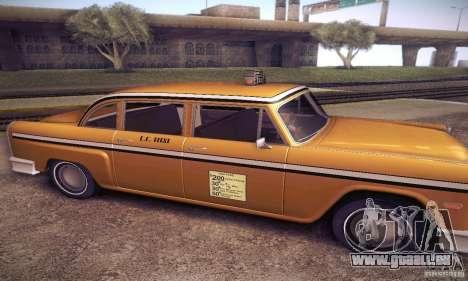Cabbie HD pour GTA San Andreas laissé vue