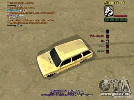 VAZ 2102 Gold für GTA San Andreas Rückansicht