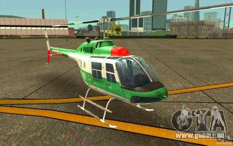 Bell 206 B Police texture3 für GTA San Andreas linke Ansicht