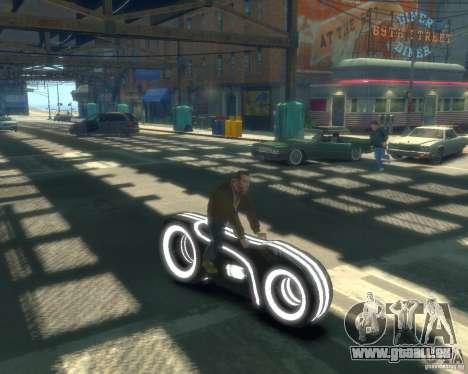 Moto du trône (néon gris) pour GTA 4 est un droit