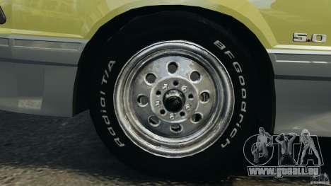 Ford Mustang GT 1993 v1.1 pour GTA 4 vue de dessus