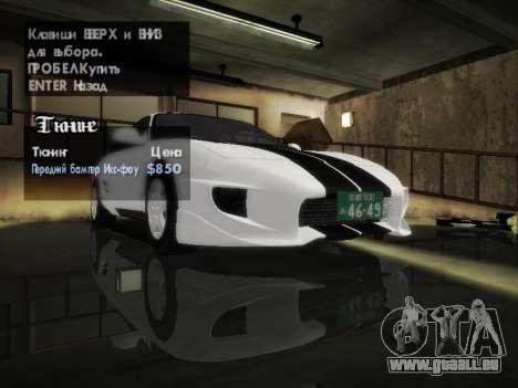 Toyota MR2 GT pour GTA San Andreas vue intérieure