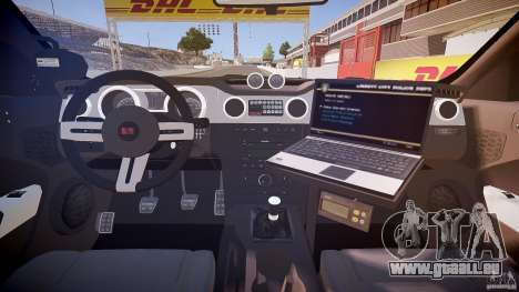 Saleen S281 Extreme Unmarked Police Car - v1.1 für GTA 4 Rückansicht