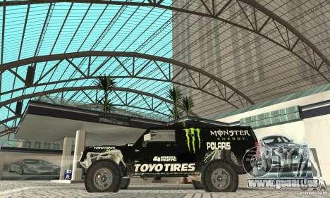 Hummer H3 Baja Rally Truck für GTA San Andreas zurück linke Ansicht