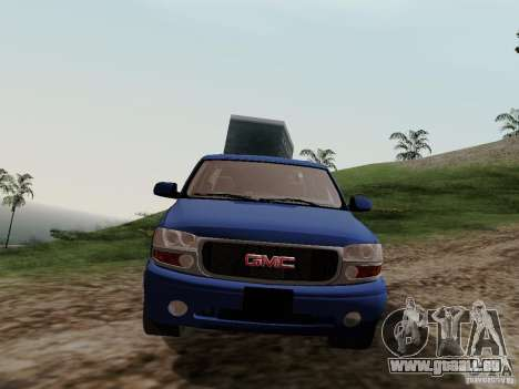 GMC Yukon Denali XL für GTA San Andreas Rückansicht
