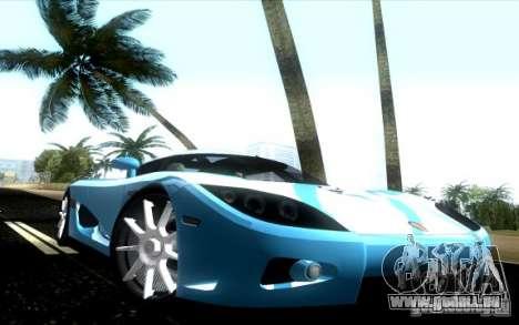 Koenigsegg CCX für GTA Vice City rechten Ansicht