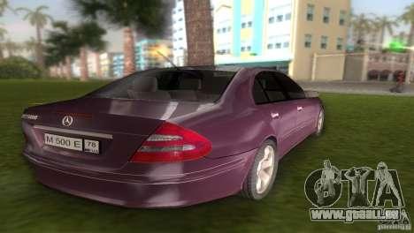 Mercedes E-class E500 pour GTA Vice City sur la vue arrière gauche