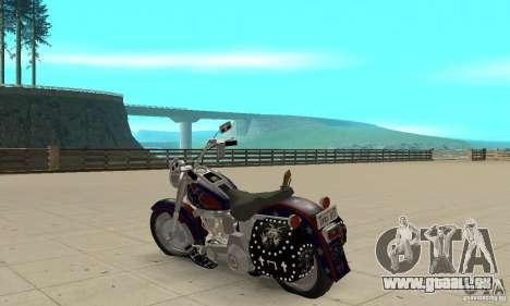 Harley Davidson FLSTF (Fat Boy) v2.0 Skin 4 pour GTA San Andreas sur la vue arrière gauche
