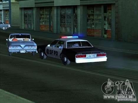 Chevrolet Caprice 1986 SFPD pour GTA San Andreas laissé vue
