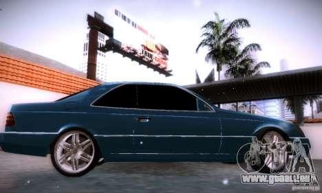 Mercedes-Benz 600SEC pour GTA San Andreas laissé vue