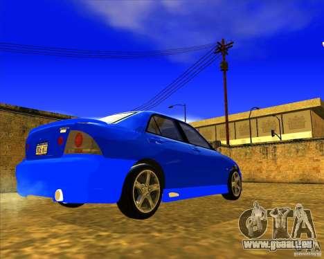 Toyota Altezza RS200 1998 pour GTA San Andreas sur la vue arrière gauche