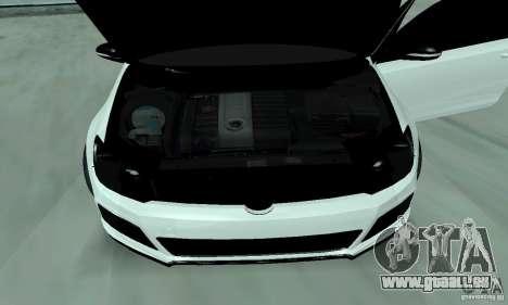 Volkswagen Golf R Modifiye pour GTA San Andreas vue arrière