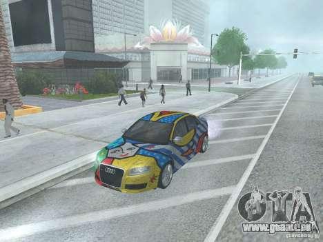 Audi RS 4 pour GTA San Andreas sur la vue arrière gauche