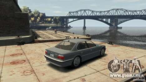 BMW 740i E38 pour GTA 4 Vue arrière de la gauche