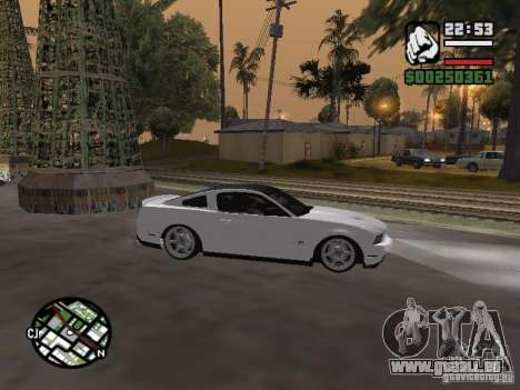 Ford Mustang GT B&W pour GTA San Andreas vue de droite