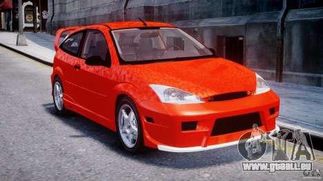 Ford Focus SVT WRC Street pour GTA 4 Vue arrière