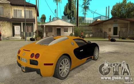 Bugatti Veyron v1.0 pour GTA San Andreas vue de droite