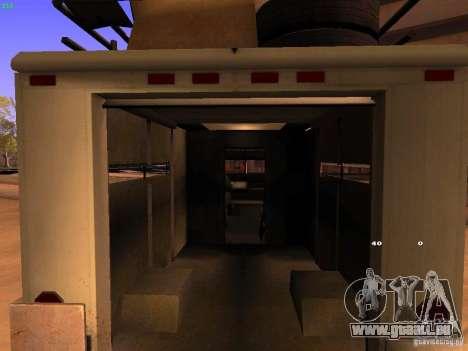 Monster Van pour GTA San Andreas vue intérieure