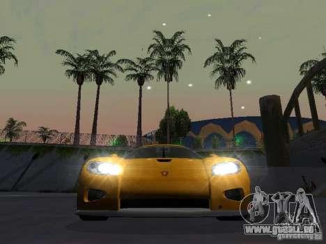 Koenigsegg CCX für GTA San Andreas Rückansicht