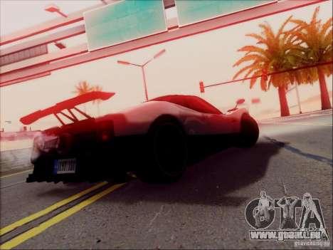 Pagani Zonda Cinque pour GTA San Andreas vue de dessus