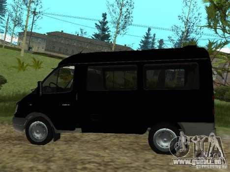 GAZ 2217 FSB pour GTA San Andreas sur la vue arrière gauche