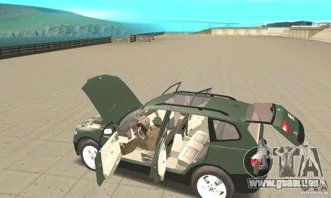 BMW X3 2.5i 2003 pour GTA San Andreas vue de dessus