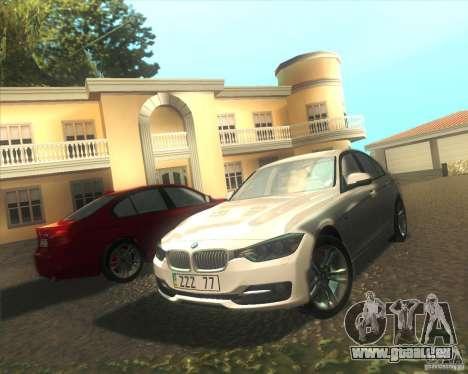 BMW 3 Series F30 2012 pour GTA San Andreas vue de côté