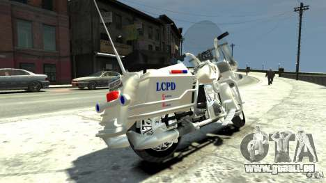 Police Bike pour GTA 4 Vue arrière de la gauche