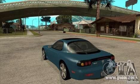 Mazda RX-7 - Stock für GTA San Andreas zurück linke Ansicht