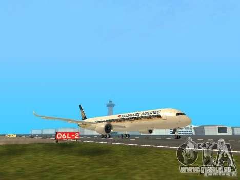 Airbus A350-900 Singapore Airlines pour GTA San Andreas laissé vue