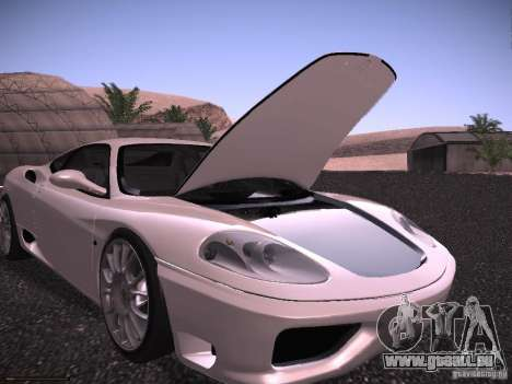 Ferrari 360 Modena für GTA San Andreas Motor