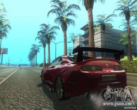 Toyota Supra Light Tuned pour GTA San Andreas sur la vue arrière gauche